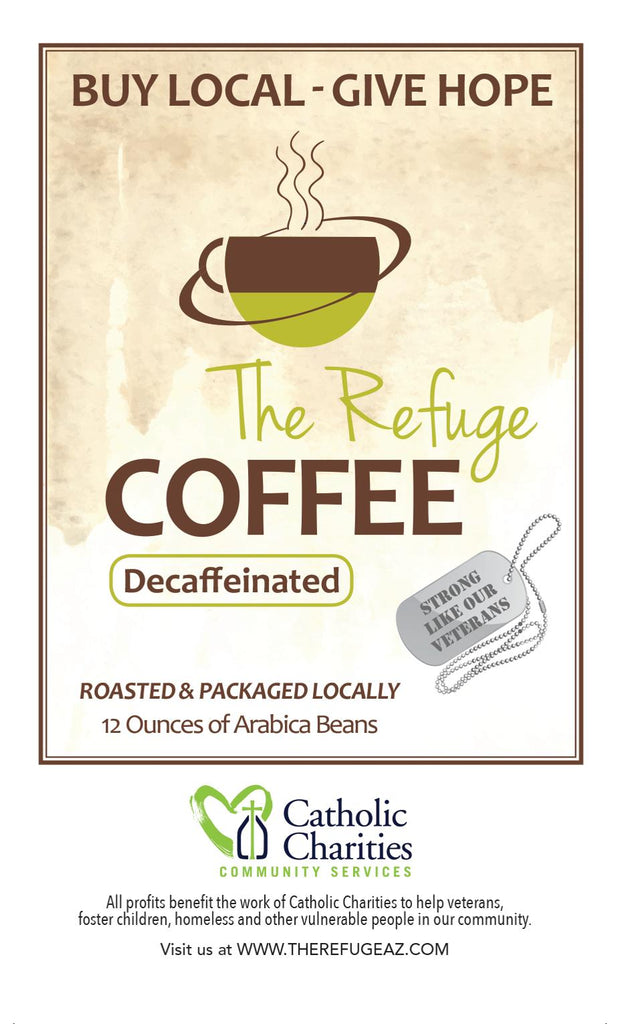 Refuge Coffee 100% Arabica Whole Bean Decaf Blend 12 oz