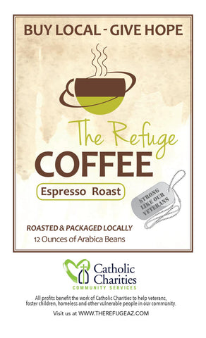 Refuge Coffee 100% Arabica Whole Bean Espresso Blend 12 oz
