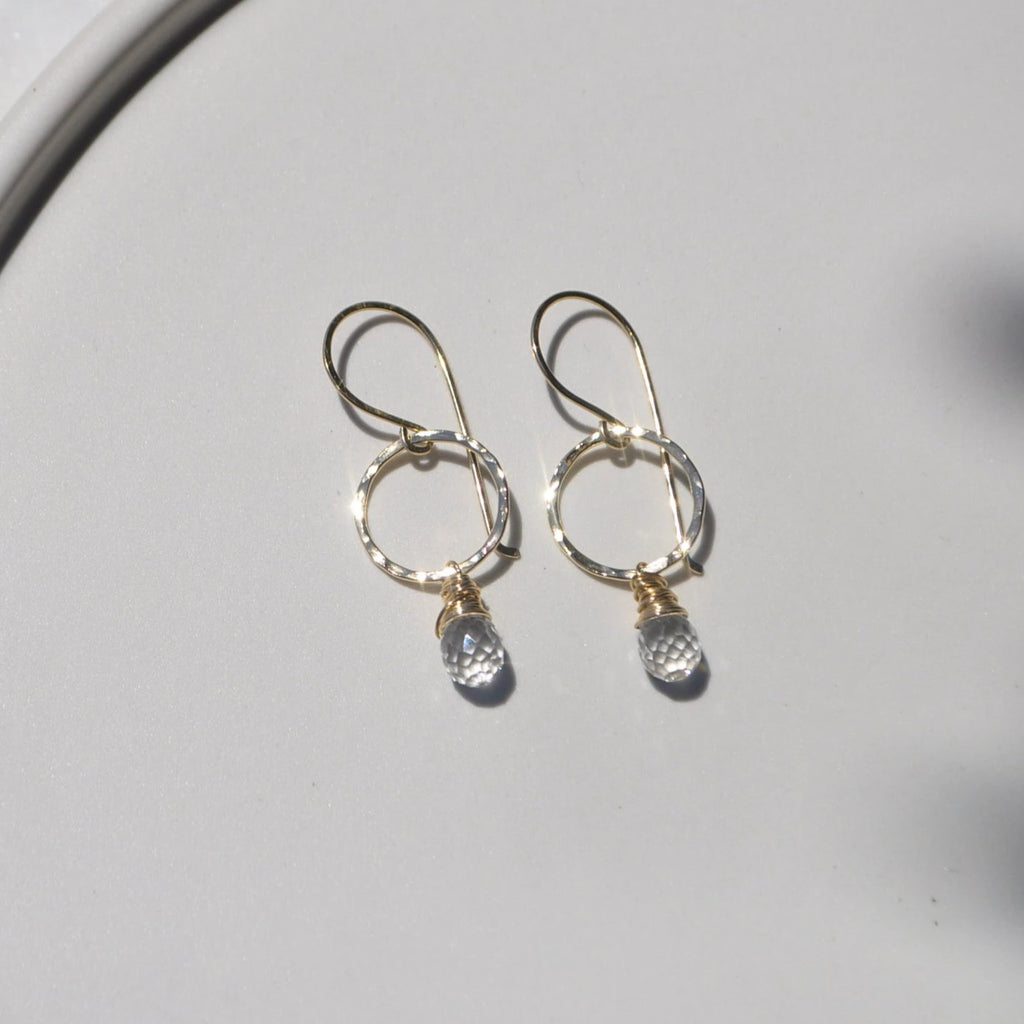 within. Quartz Chandelier Earrings - Clear