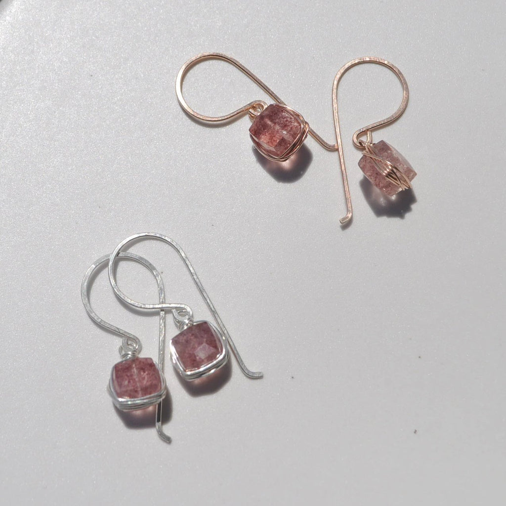 within. Quartz Earrings - Strawberry