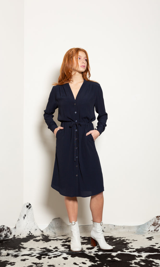 Glacier Shirt Dress - Viscose Crepe