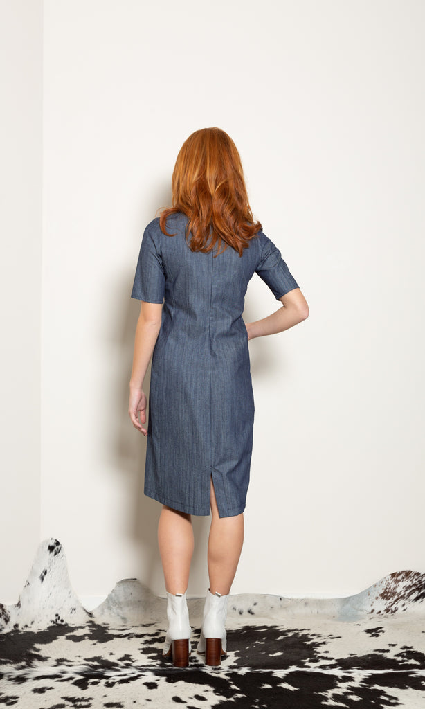 Weather Pattern Dress - Denim