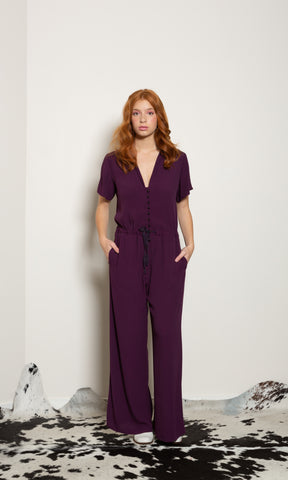 Blue Sky Jumpsuit - Tropical