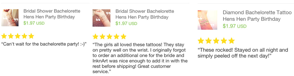 custom Bachelorette hens party temporary tattoo