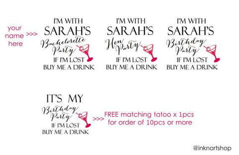 Custom-bachelorette-party-hen-party-temporary-tattoo-1