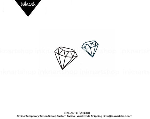 2pcs Set Diamond Gemstone