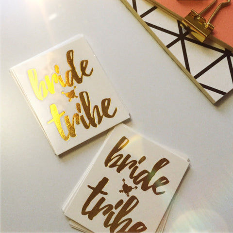 Set of 15pcs Metallic 'Bride Tribe' Party Tattoo