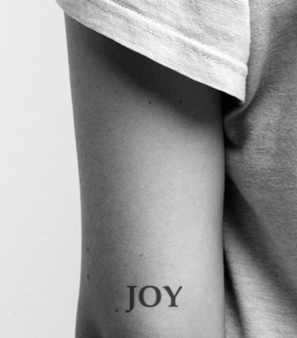 joy temporary-tattoo