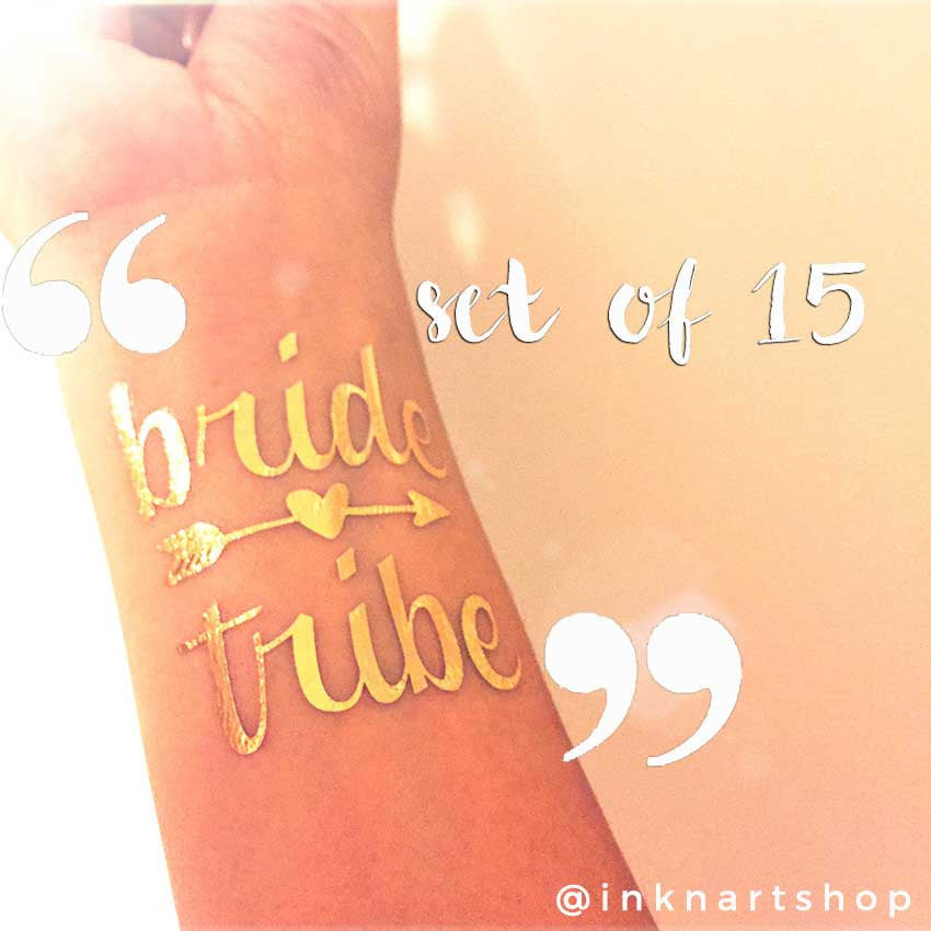Metallic 'Bride Tribe' Party Metallic Temporary Tattoo