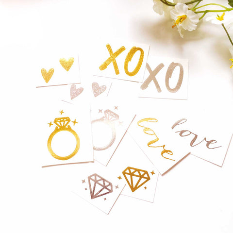 Set of 10pcs Bachelorette / Wedding Party Favors Silver Gold