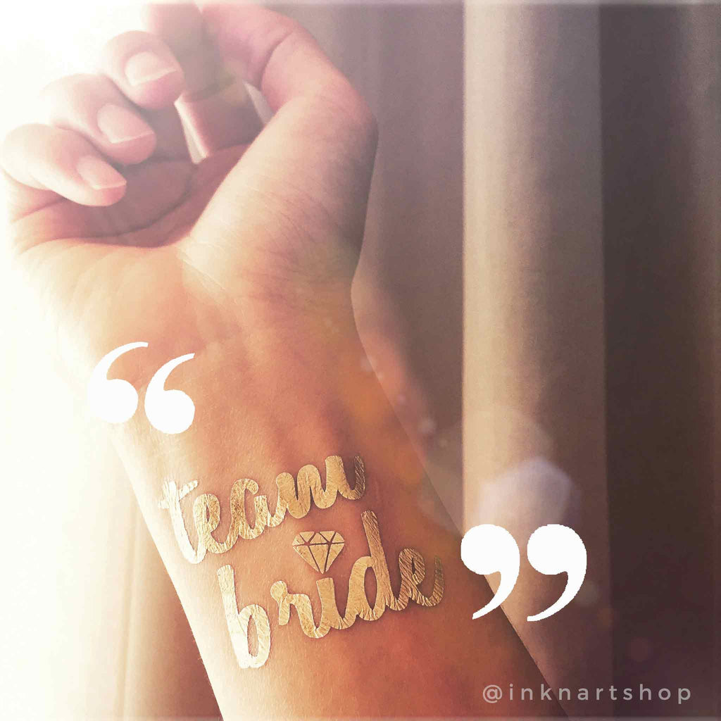 bachelorette-party-hen-party-team-bride-metallic-gold-temporary-tattoo