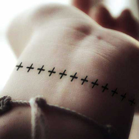 bracelet-cross-temporary-tattoo