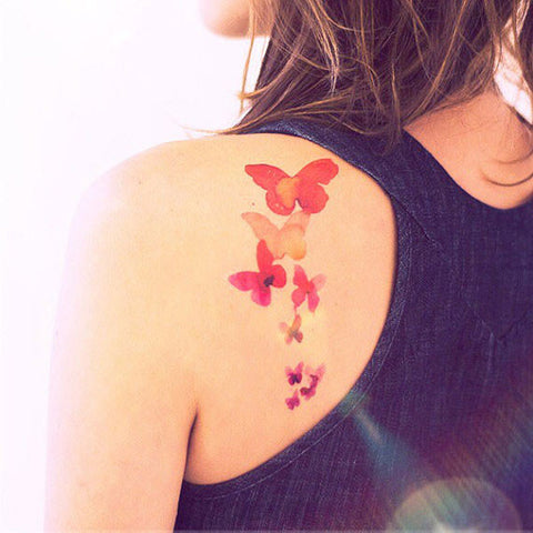 Watercolor Flying Butterfly