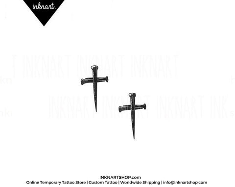 nail cross temporary-tattoo