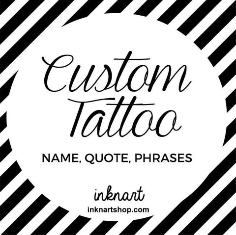 Set of 2 Custom Quote, Name or Any Word