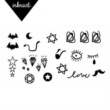cute fun Lovely Small Collection temporary tattoo diamond