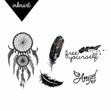feather-dreamcatcher-temporary-tattoo-set