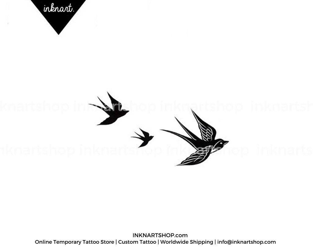 3pcs Set Free birds swallows - INKNARTSHOP - Designer ...