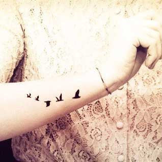 flying bird swallow temporary tattoo for arm