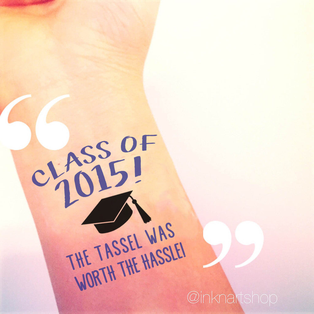 Custom Tattoo -  Graduation Party For Class