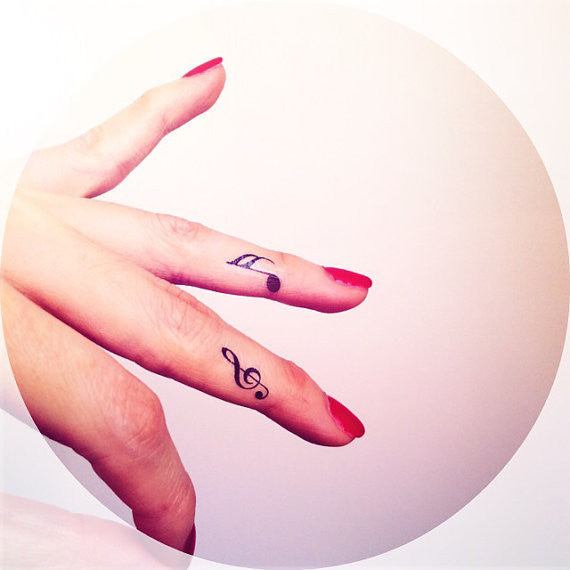 4pcs Tiny music note tattoo
