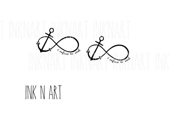 anchor infinity loop inknartshop designer temporary tattoo. Black Bedroom Furniture Sets. Home Design Ideas