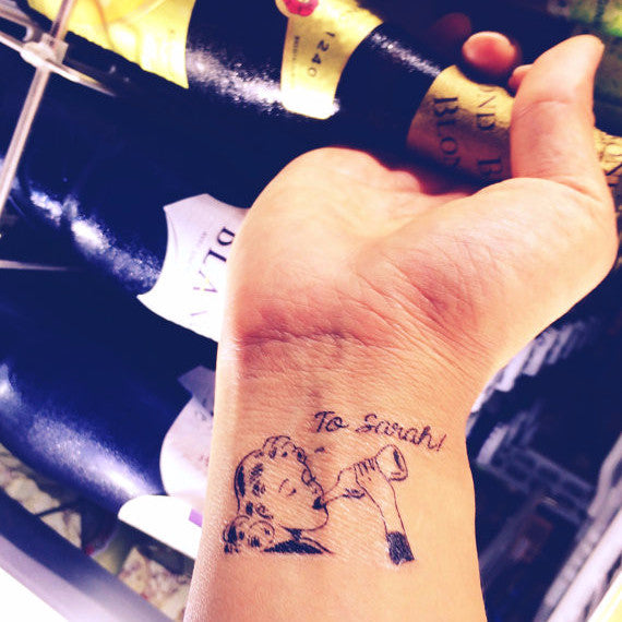 Custom Tattoo - Keep Drinking! Party Tattoo