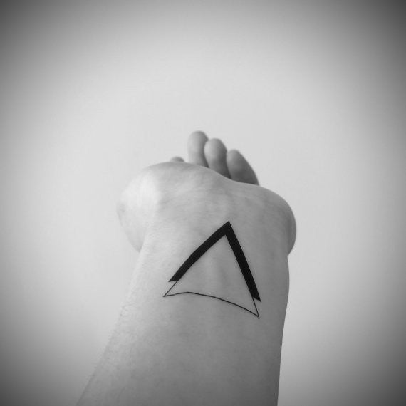 Black and White Double Triangles