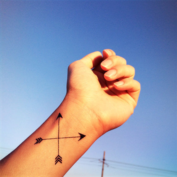 Cross arrow