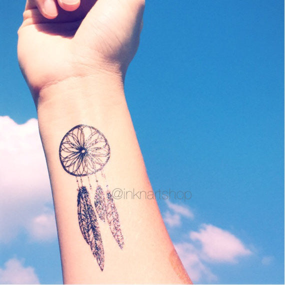 Dreamcatcher hipster – INKNARTSHOP - Designer Temporary Tattoo