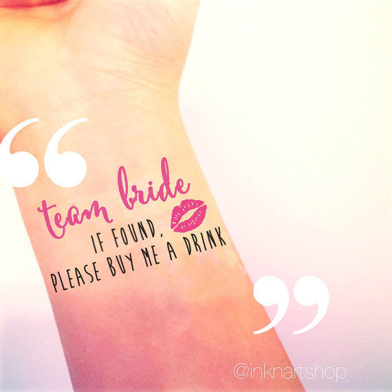 Custom Tattoo - Team Bride Party Tattoo