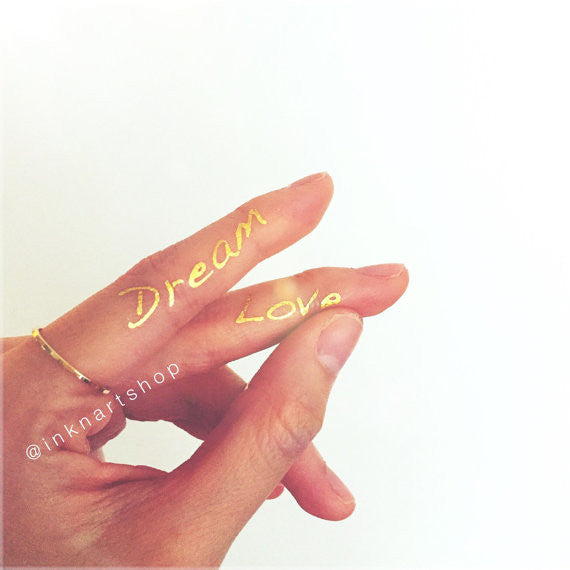 Dream & Love Gold Metallic