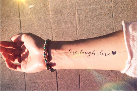 live-laugh-love-temporary-tattoo