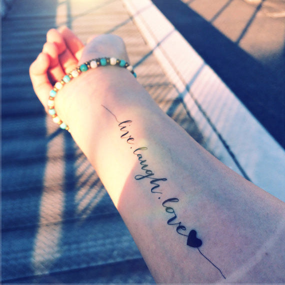 Tattoo Quotes To Live By: Designer Temporary Tattoo