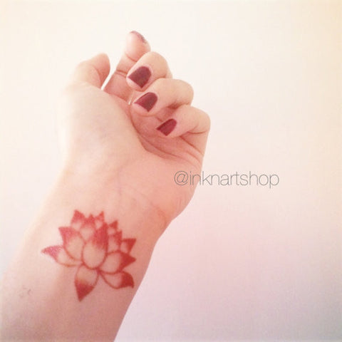 Lotus tattoo 3 sizes