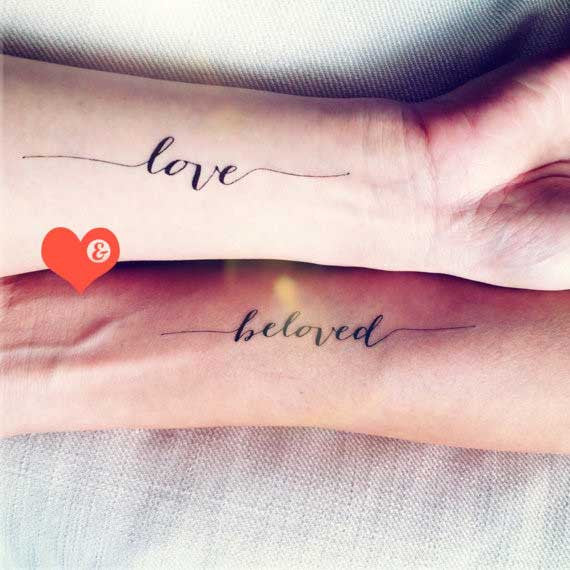 love beloved temporary-tattoo