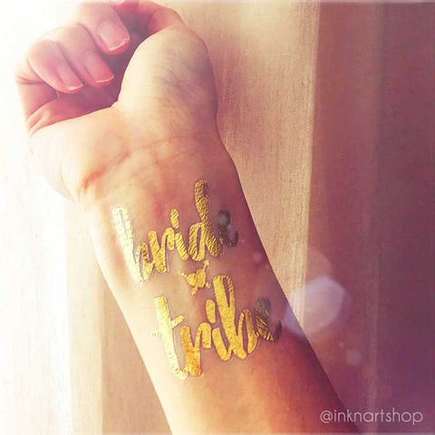 Metallic 'Bride Tribe' Party Tattoo