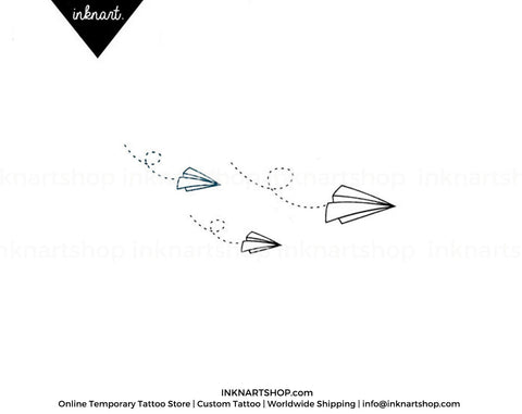paper airplane-temporary-tattoo