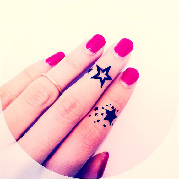 4pcs Finger Star temporary tattoo