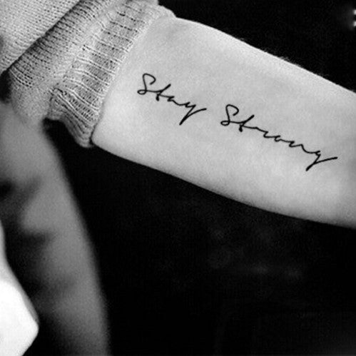 stay-strong-quote-temporary-tattoo