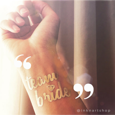 Set of 10pcs Metallic 'Team Bride' Party Tattoo