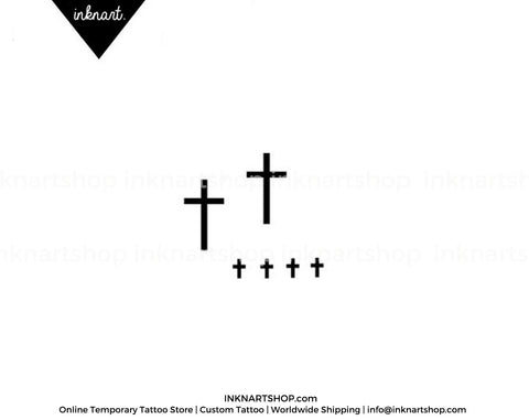 tiny cross -temporary-tattoo