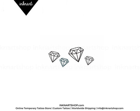 4pcs Set Tiny Diamond Gemstone