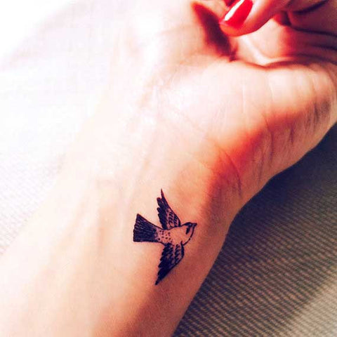 tiny-flying-bird-swallow-temporary-tattoo