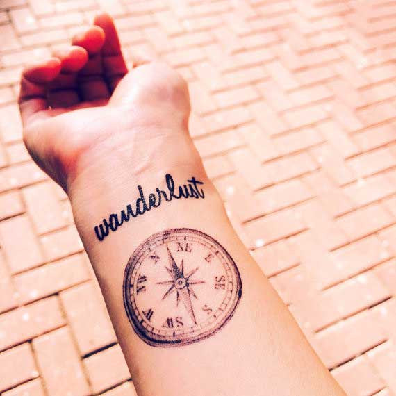 vintage-compass-wanderlust-temporary-tattoo