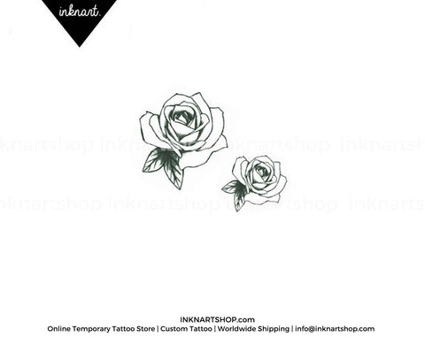 vintage-rose-temporary-tattoo