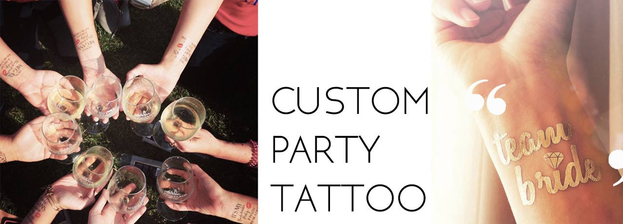 custom bachelorette party tattoo