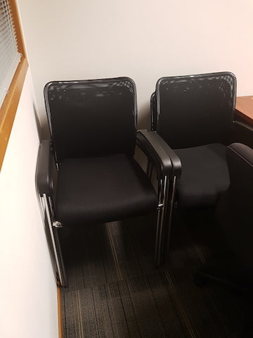 Fancl Guest Chairs - Stackable / Mesh with Cushion