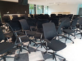 Vitra Mesh Chairs - Black Mesh Back Rest n Fabric Cushion