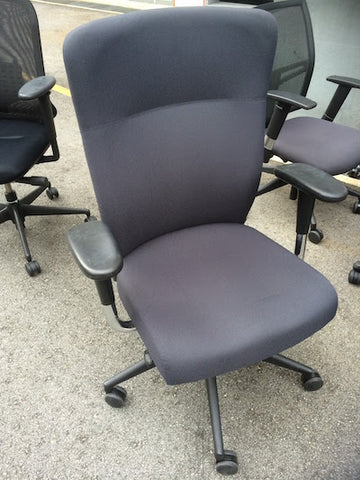 Benel Chair - High Back in Grey Fabric